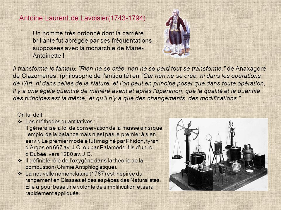 Antoine Laurent de Lavoisier(1743-1794)