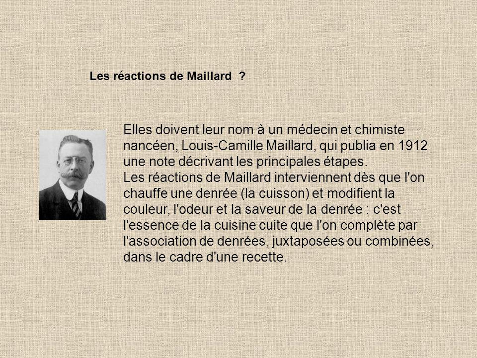 Les réactions de Maillard