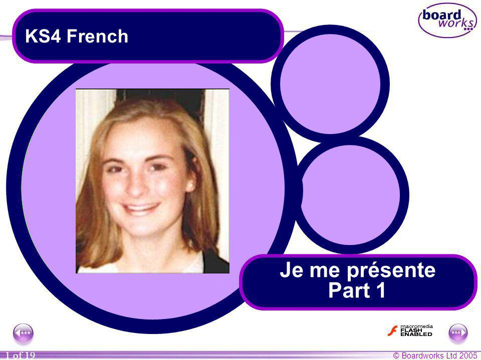 KS4 French Je me présente Part 1