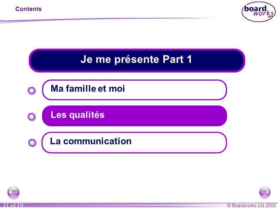 Je me présente Part 1 Ma famille et moi Les qualités La communication
