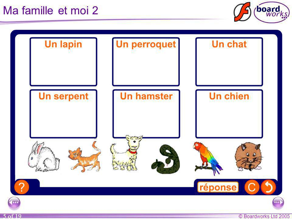 Ma famille et moi 2 This activity revises pet vocabulary.