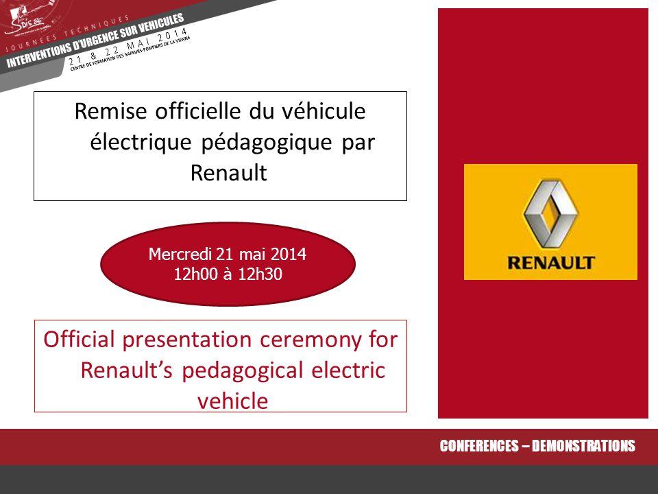 Remise officielle du véhicule électrique pédagogique par Renault