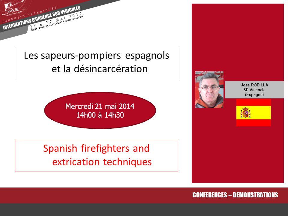 Les sapeurs-pompiers espagnols et la désincarcération