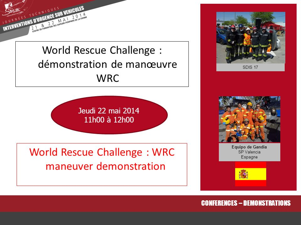World Rescue Challenge : démonstration de manœuvre WRC