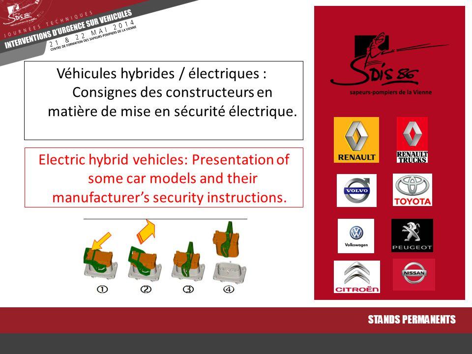 Véhicules hybrides / électriques : Consignes des constructeurs en matière de mise en sécurité électrique.