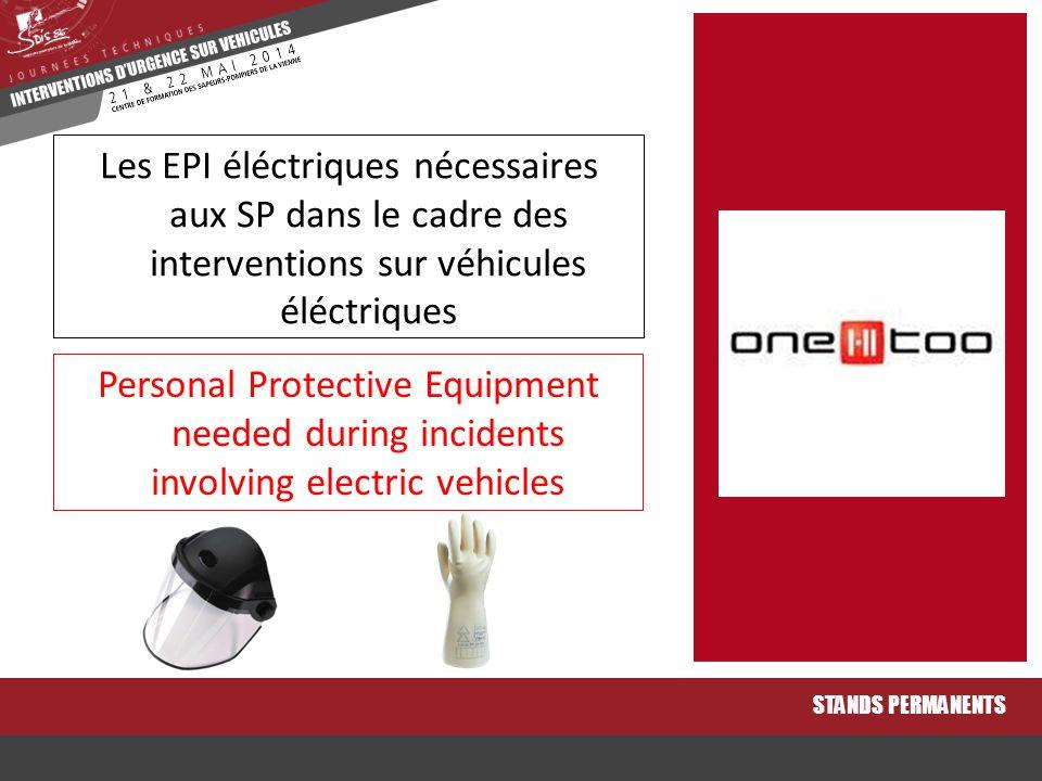 Les EPI éléctriques nécessaires aux SP dans le cadre des interventions sur véhicules éléctriques