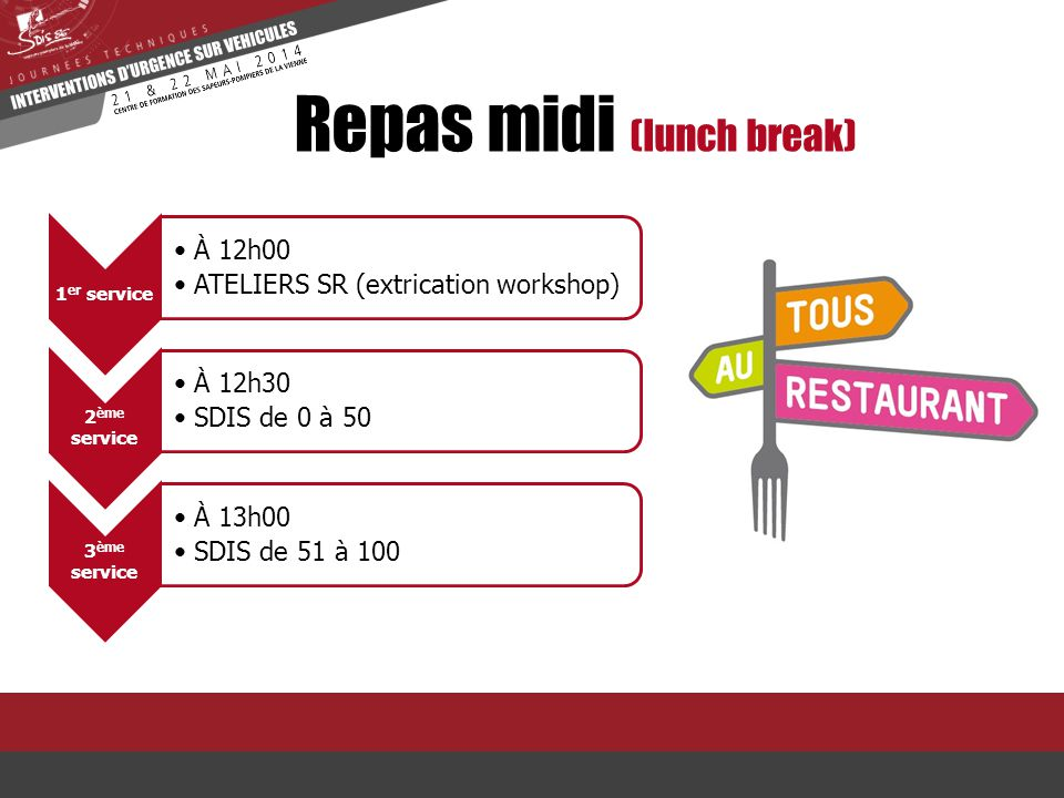 Repas midi (lunch break)