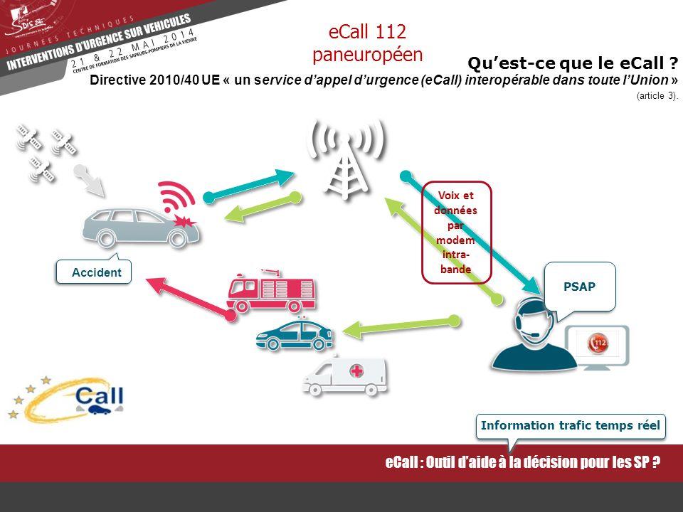 Voix et données par modem intra-bande Information trafic temps réel