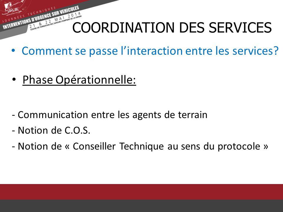 CcOORDINATION DES SERVICES