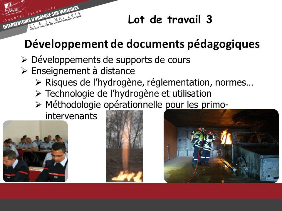 Développement de documents pédagogiques