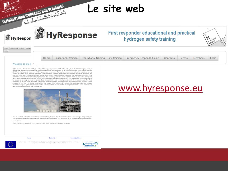 Le site web www.hyresponse.eu