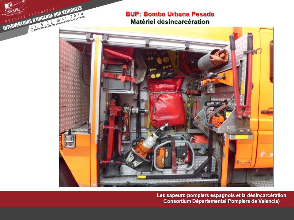 BUP: Bomba Urbana Pesada Matériel désincarcération
