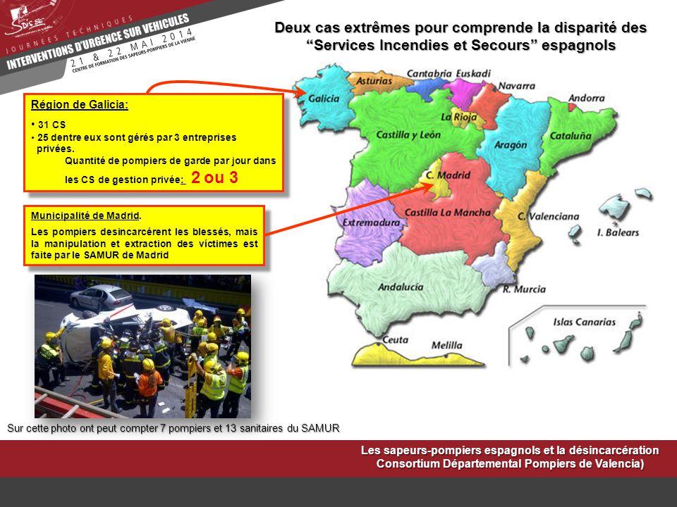 Deux cas extrêmes pour comprende la disparité des Services Incendies et Secours espagnols