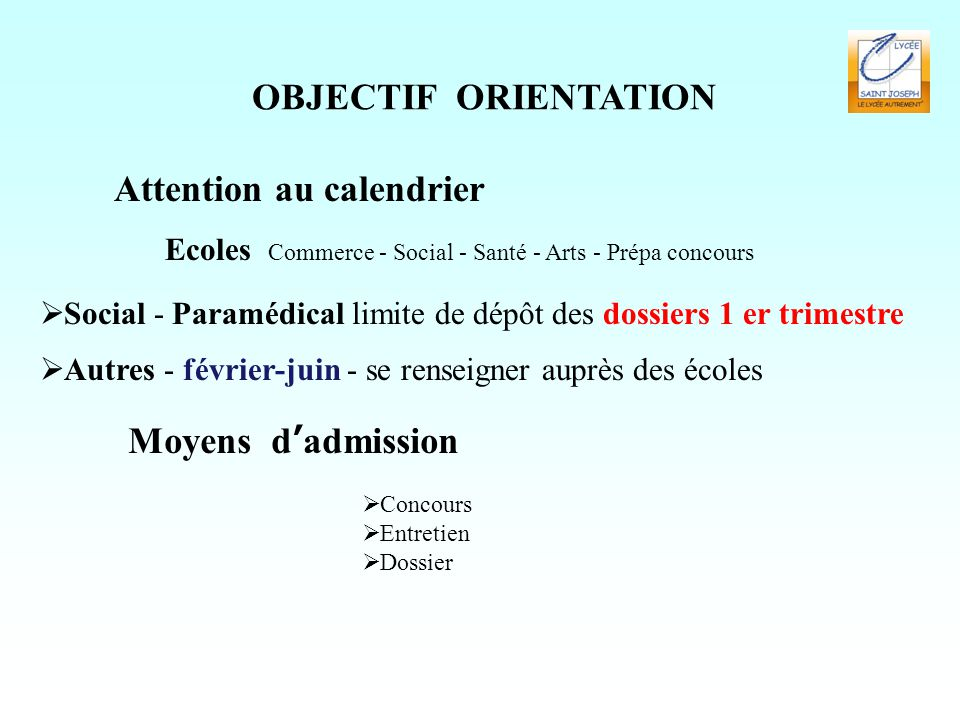 Attention au calendrier