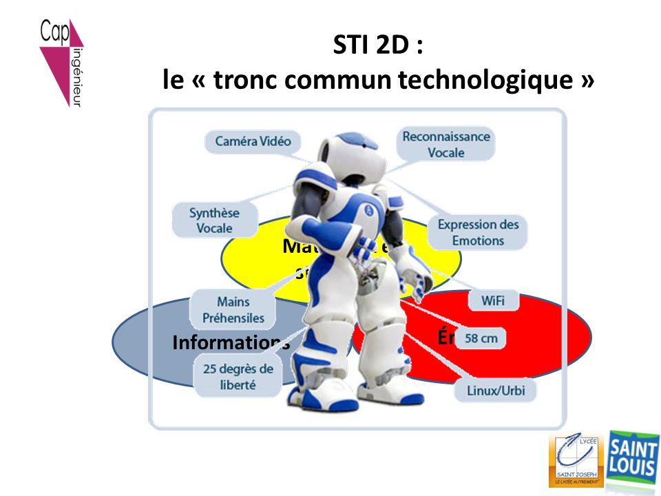 STI 2D : le « tronc commun technologique »