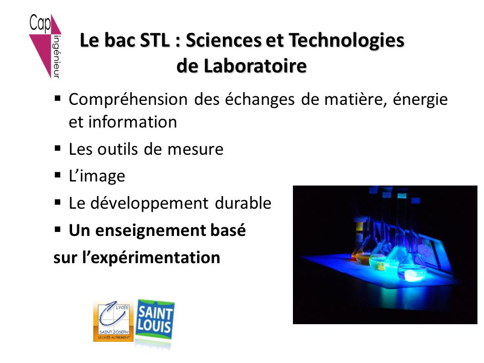 Le bac STL : Sciences et Technologies de Laboratoire