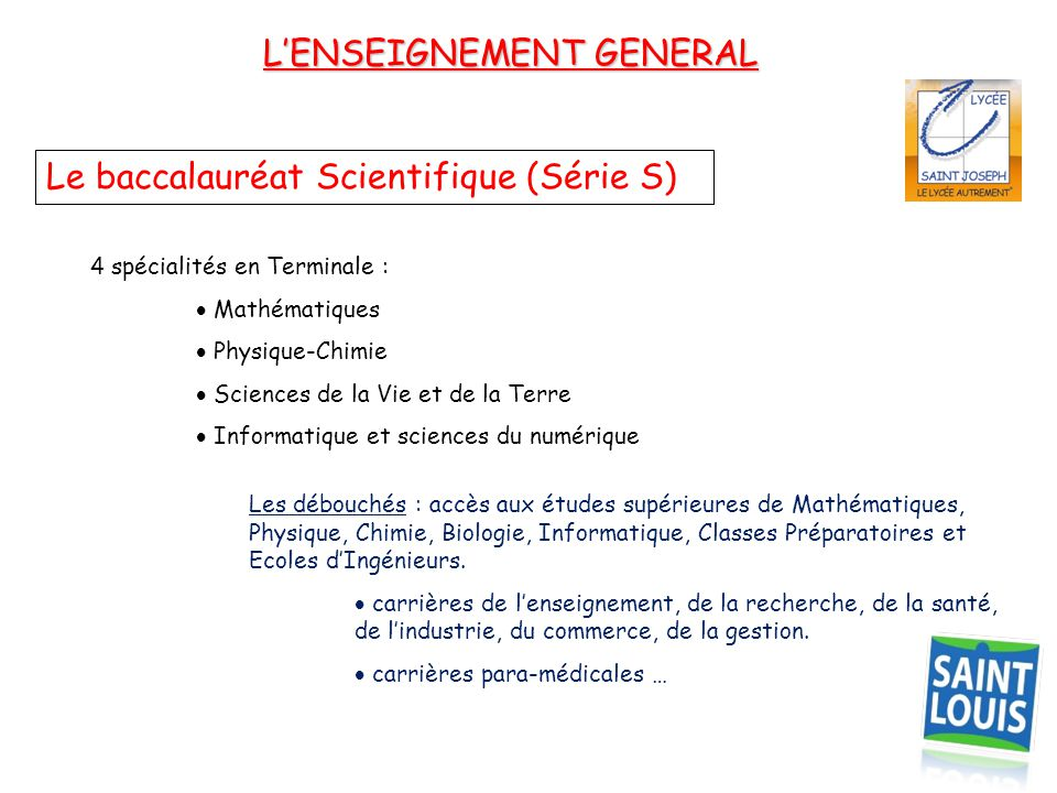 L'ENSEIGNEMENT GENERAL