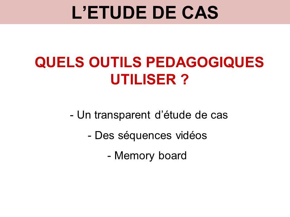QUELS OUTILS PEDAGOGIQUES UTILISER