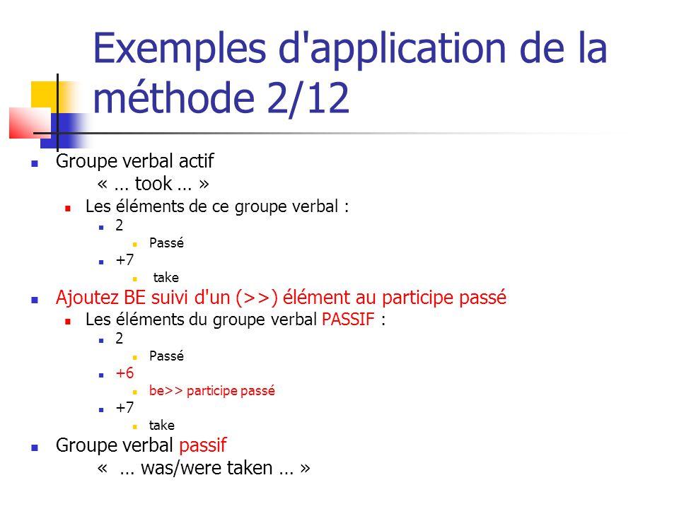 Exemples d application de la méthode 2/12