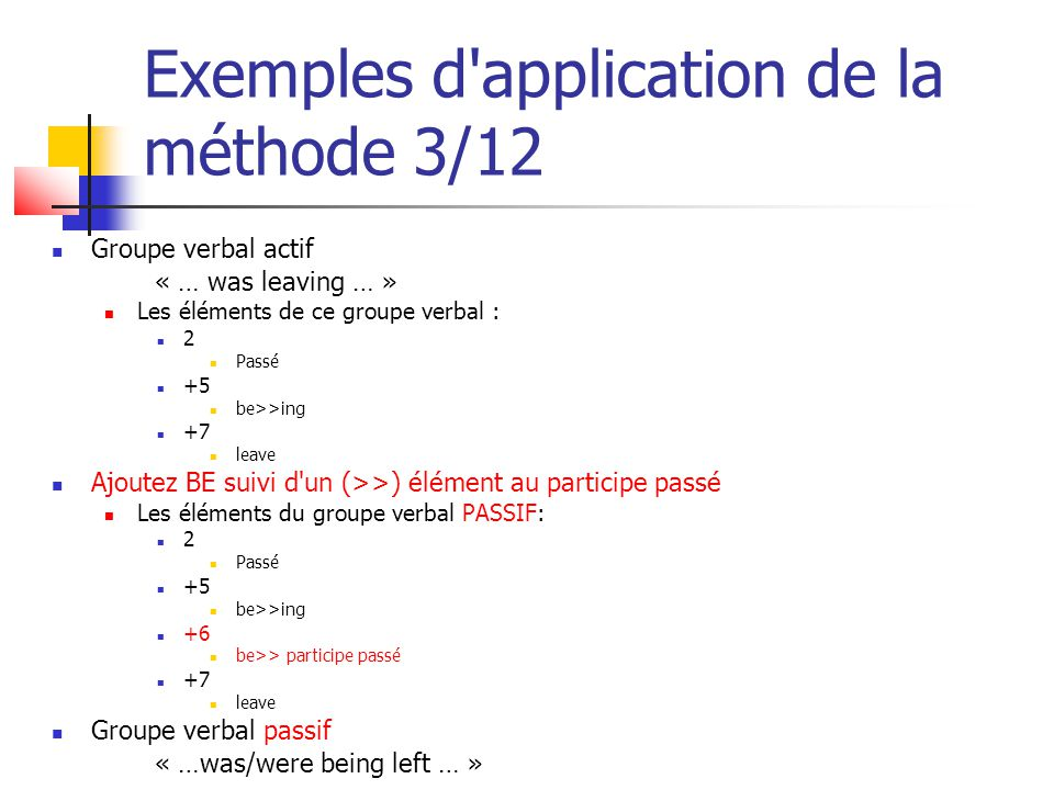 Exemples d application de la méthode 3/12