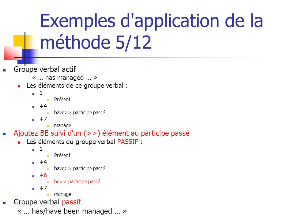 Exemples d application de la méthode 5/12
