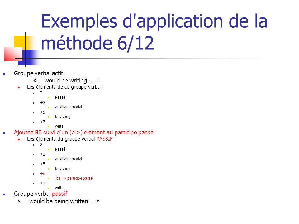 Exemples d application de la méthode 6/12