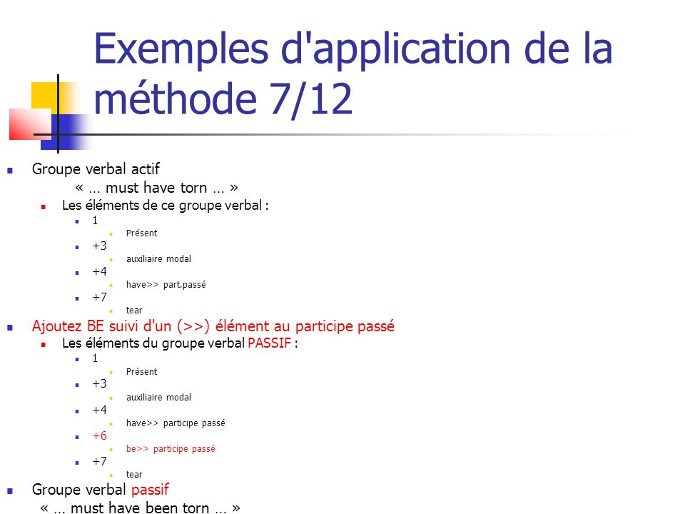 Exemples d application de la méthode 7/12