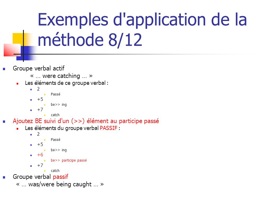Exemples d application de la méthode 8/12