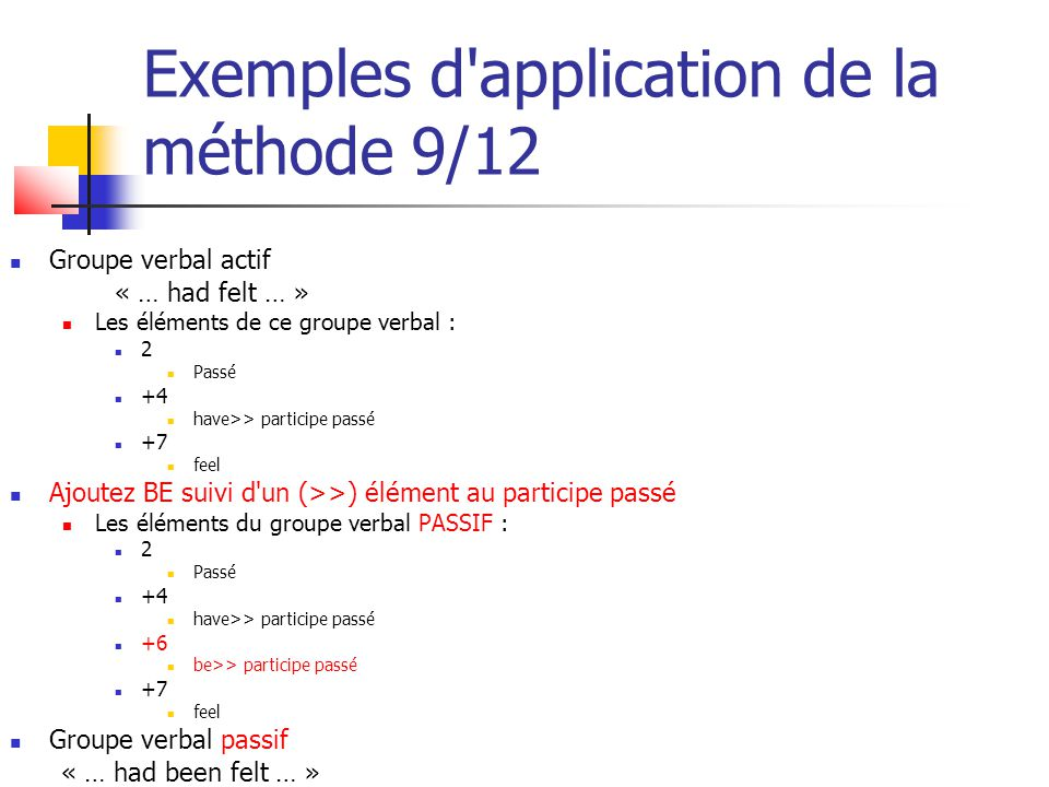 Exemples d application de la méthode 9/12