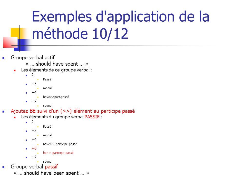 Exemples d application de la méthode 10/12