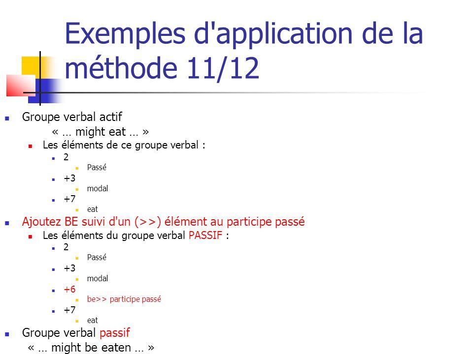 Exemples d application de la méthode 11/12
