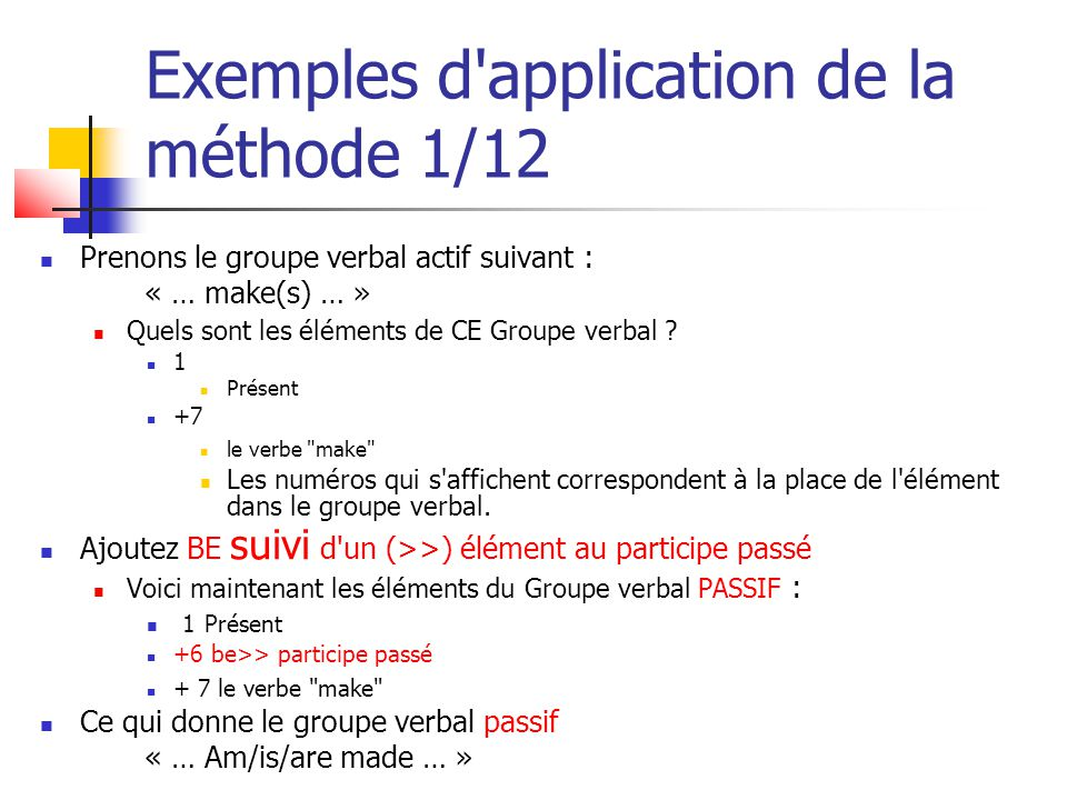 Exemples d application de la méthode 1/12
