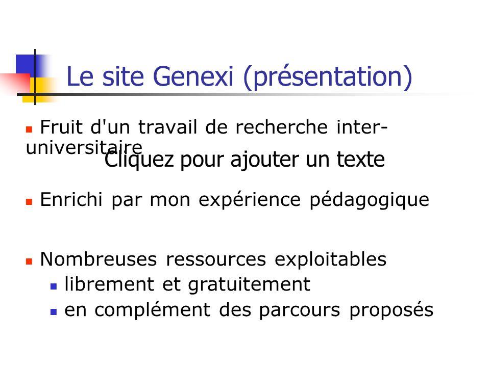 Le site Genexi (présentation)