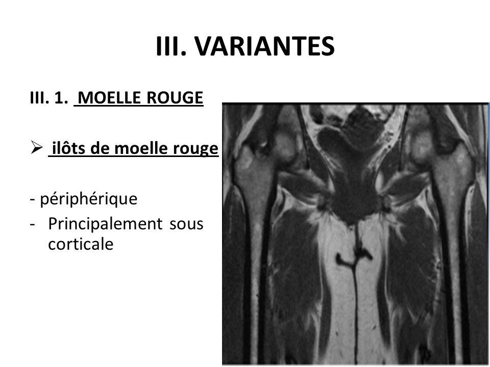 III. VARIANTES III. 1. MOELLE ROUGE ilôts de moelle rouge