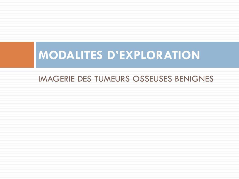 MODALITES D'EXPLORATION