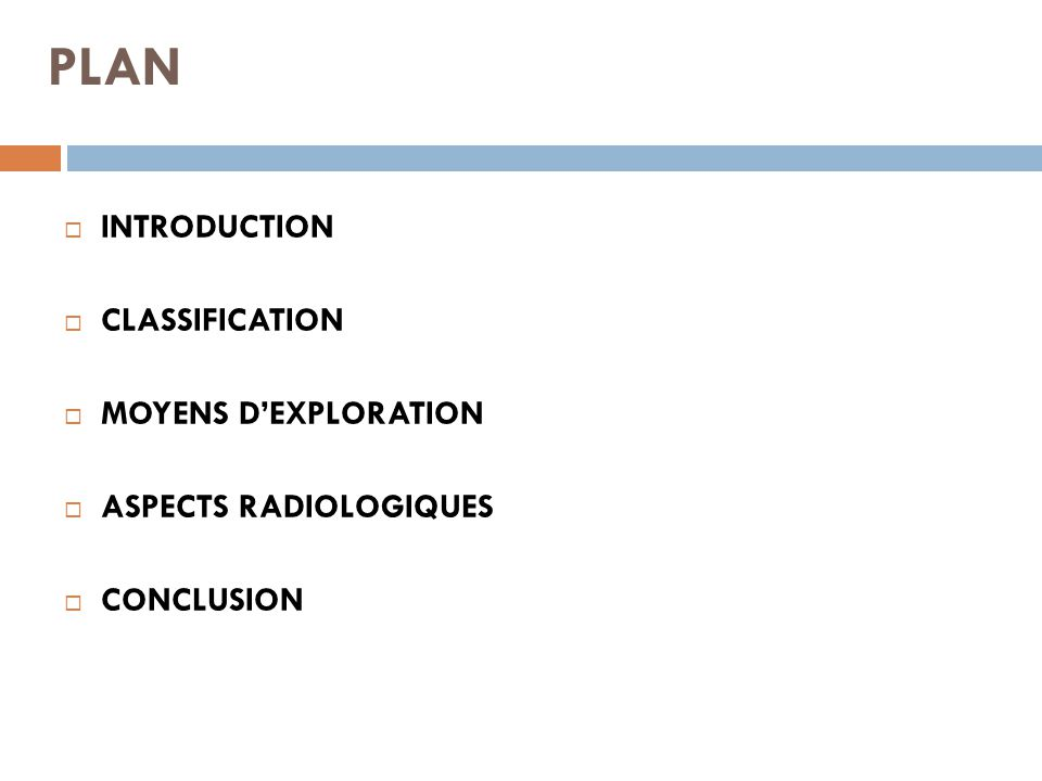 PLAN INTRODUCTION CLASSIFICATION MOYENS D'EXPLORATION