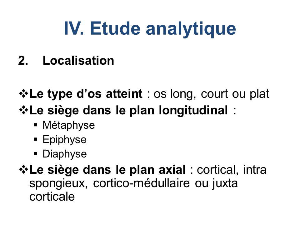 IV. Etude analytique 2. Localisation