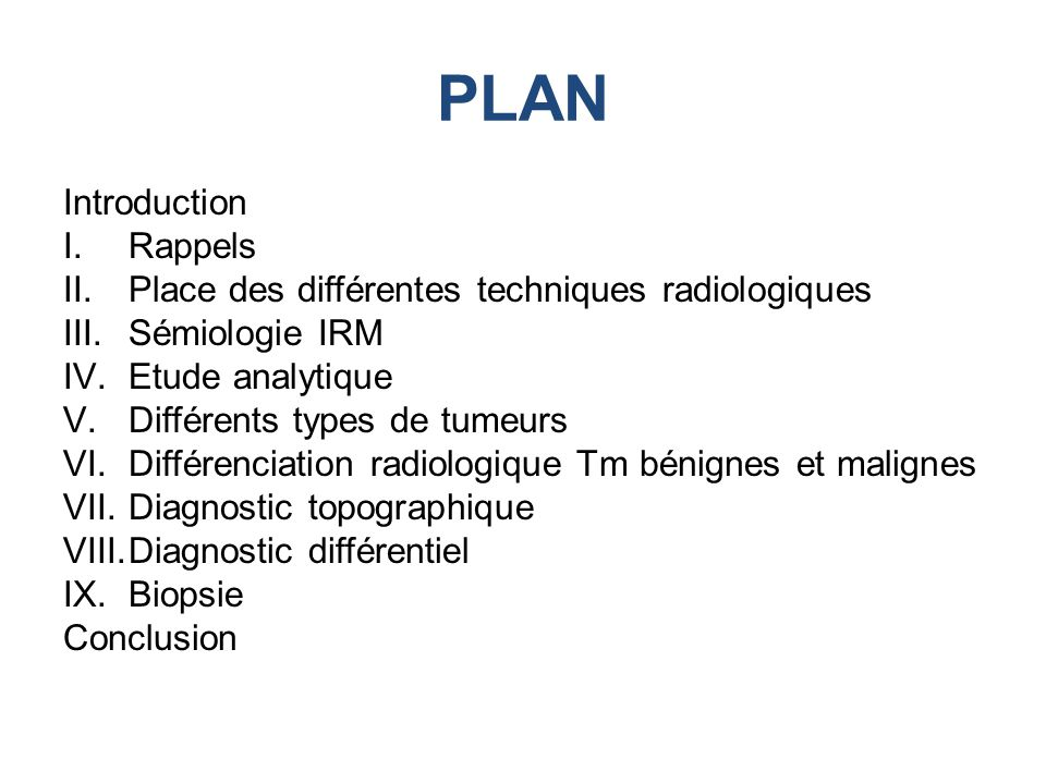 PLAN Introduction Rappels