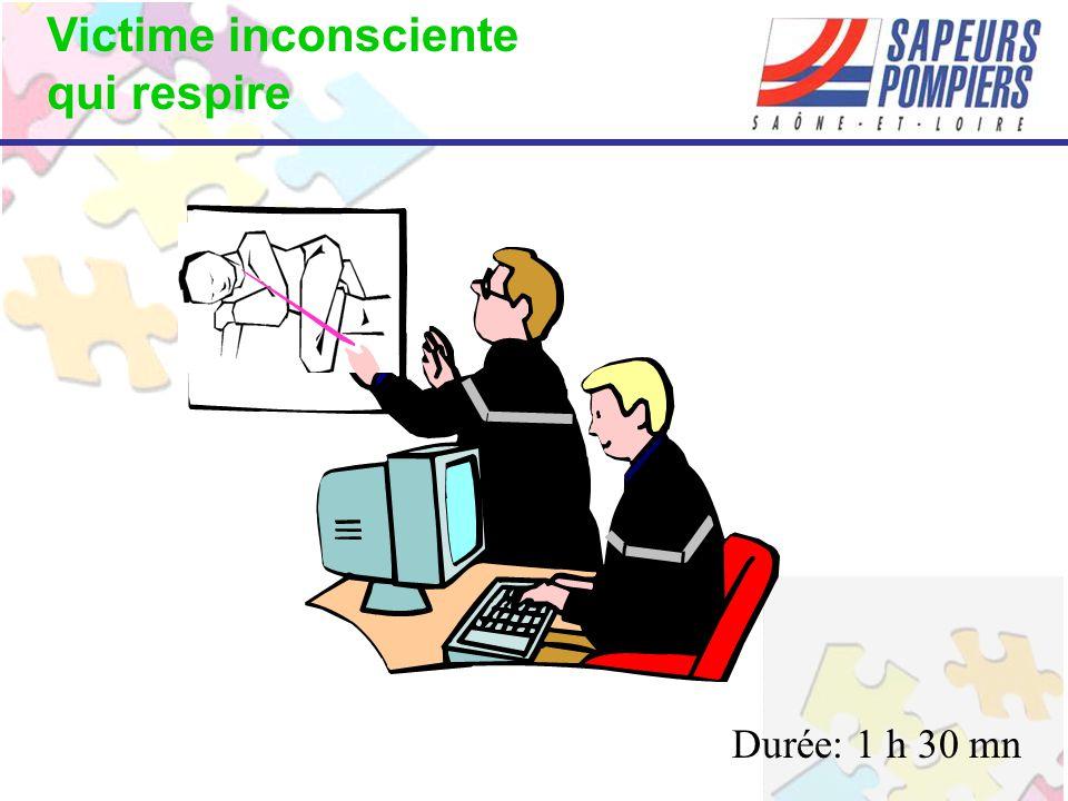 Victime inconsciente qui respire Durée: 1 h 30 mn