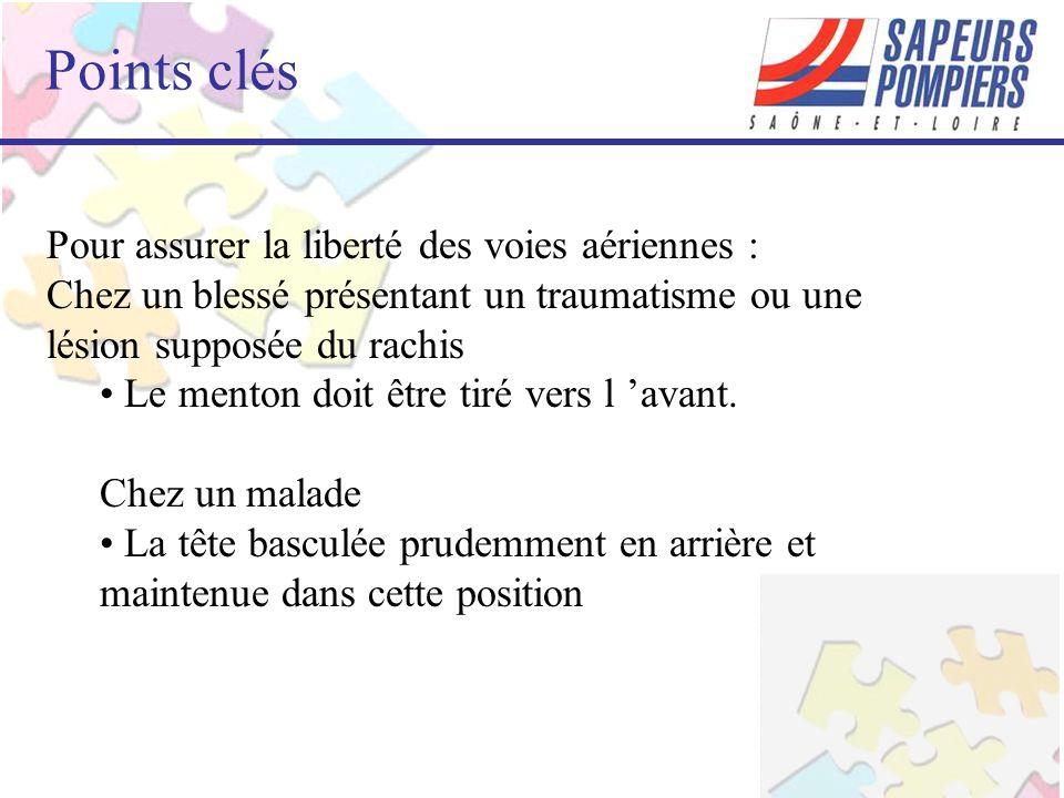 Points clés Pour assurer la liberté des voies aériennes :