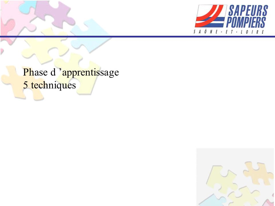 Phase d 'apprentissage