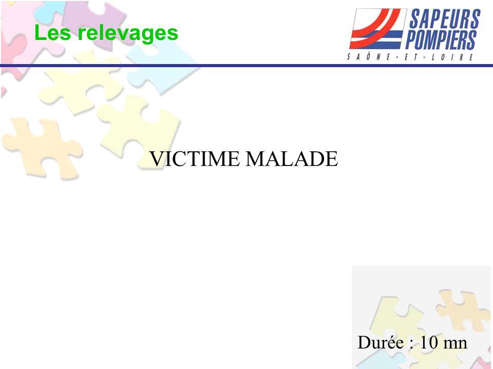 Les relevages VICTIME MALADE Durée : 10 mn