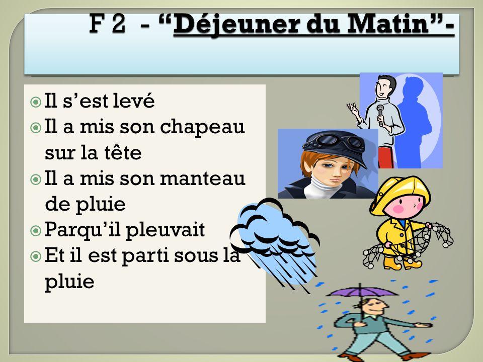 F 2 - Déjeuner du Matin -