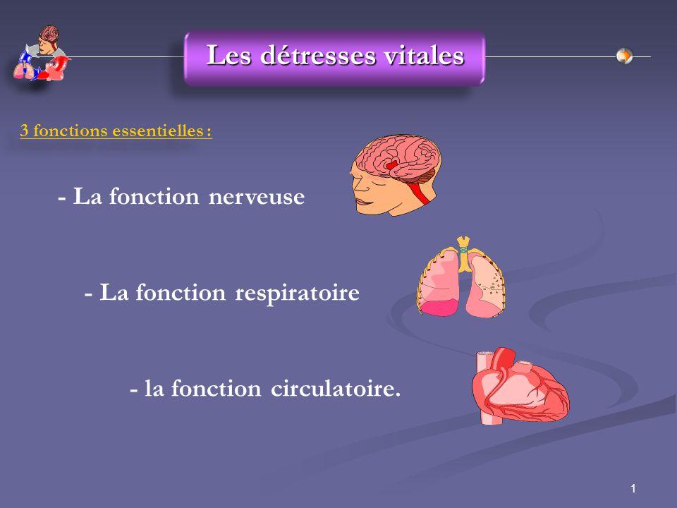 Les détresses vitales - La fonction nerveuse