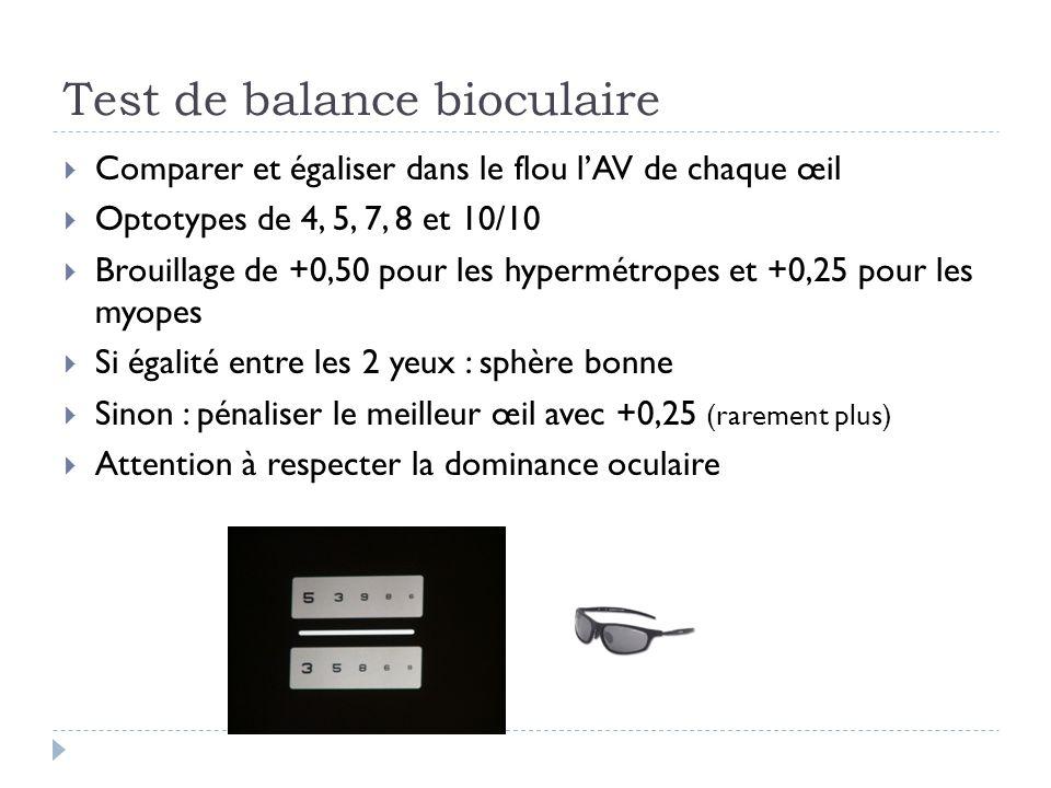 Test de balance bioculaire