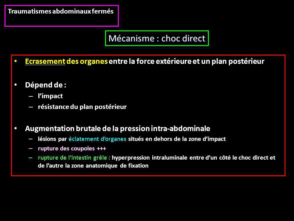 Mécanisme : choc direct