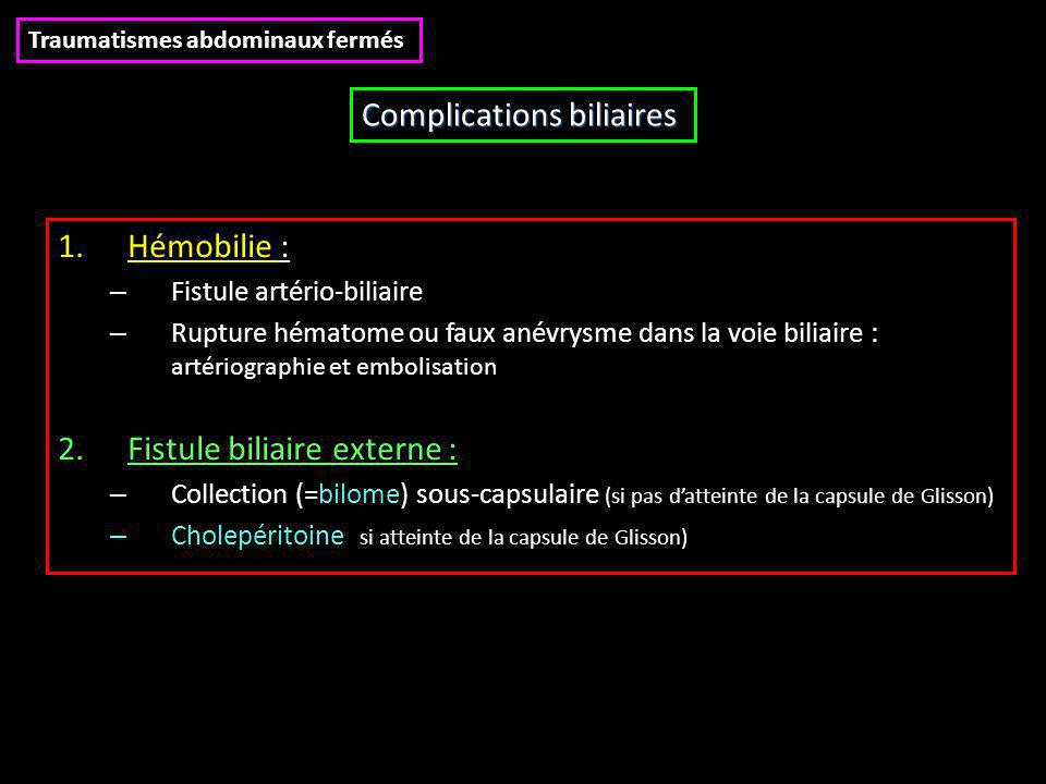 Complications biliaires