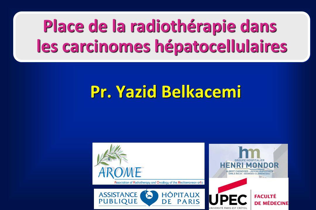 Place de la radiothérapie dans les carcinomes hépatocellulaires