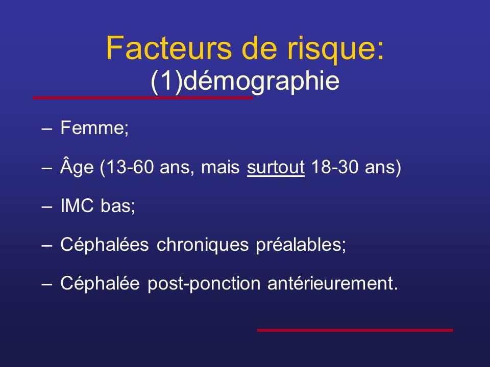 Facteurs de risque: (1)démographie