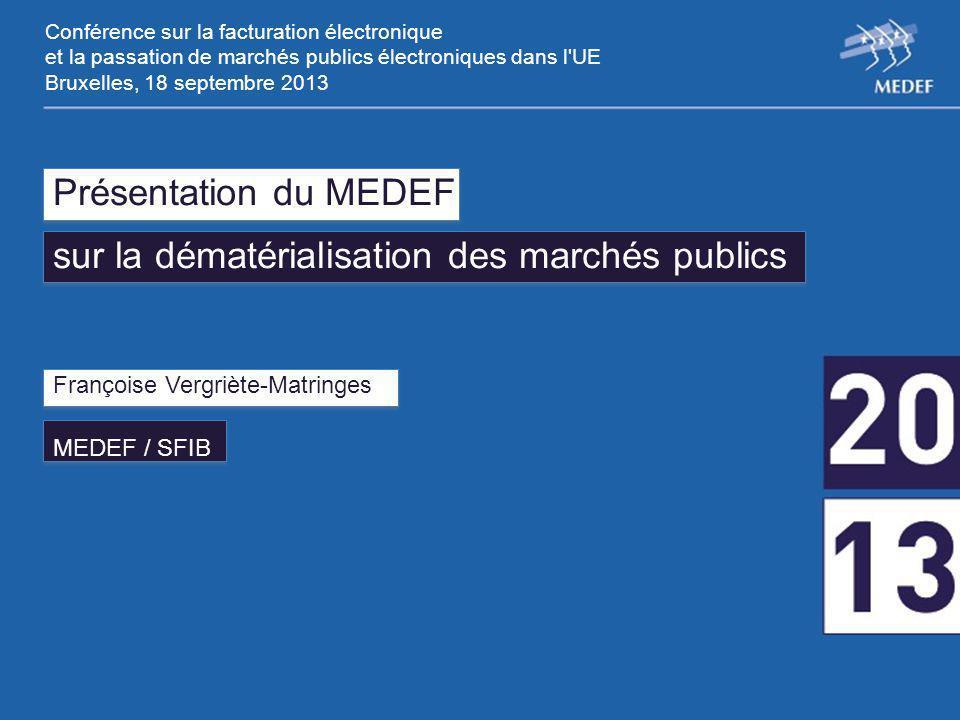 Conférence sur la facturation électronique